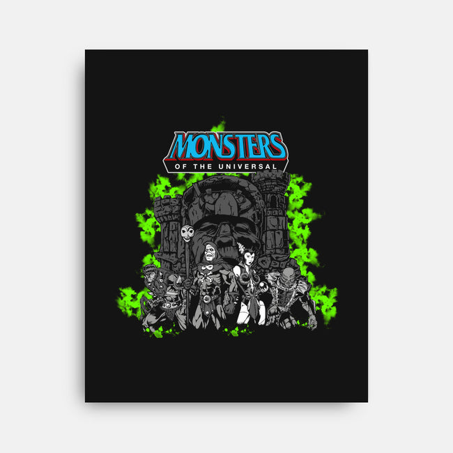 Monsters of the Universal-none stretched canvas-chemabola8