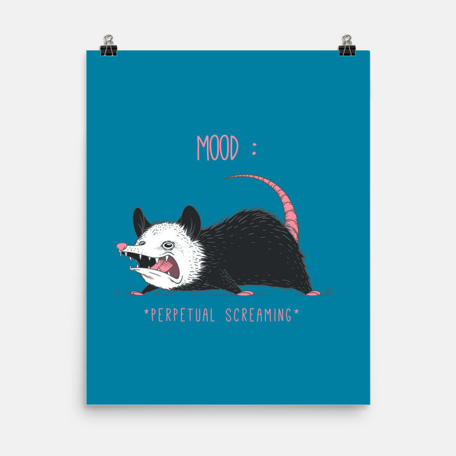 Mood Possum-none matte poster-ChocolateRaisinFury