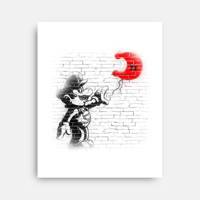Moon Plumber-none stretched canvas-CoD Designs