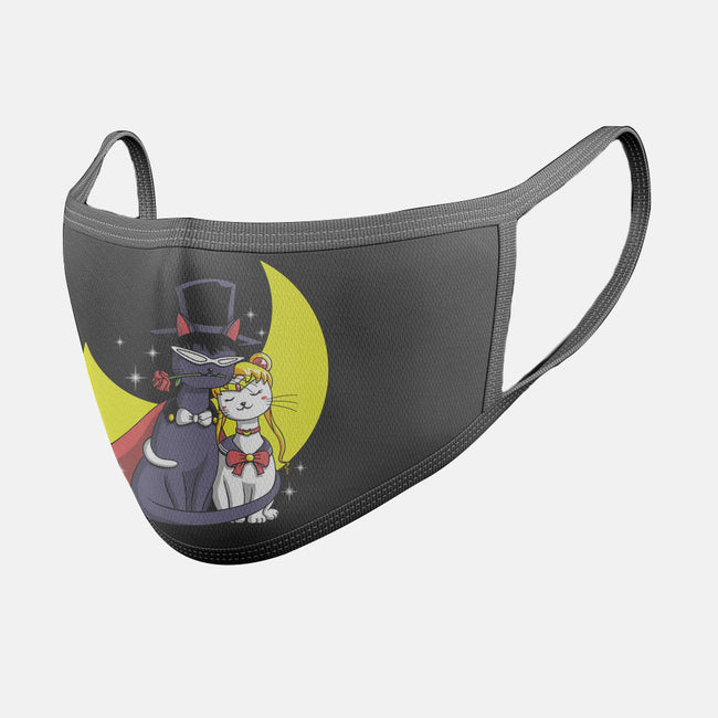 Moonlight Cats-unisex basic face mask-vp021