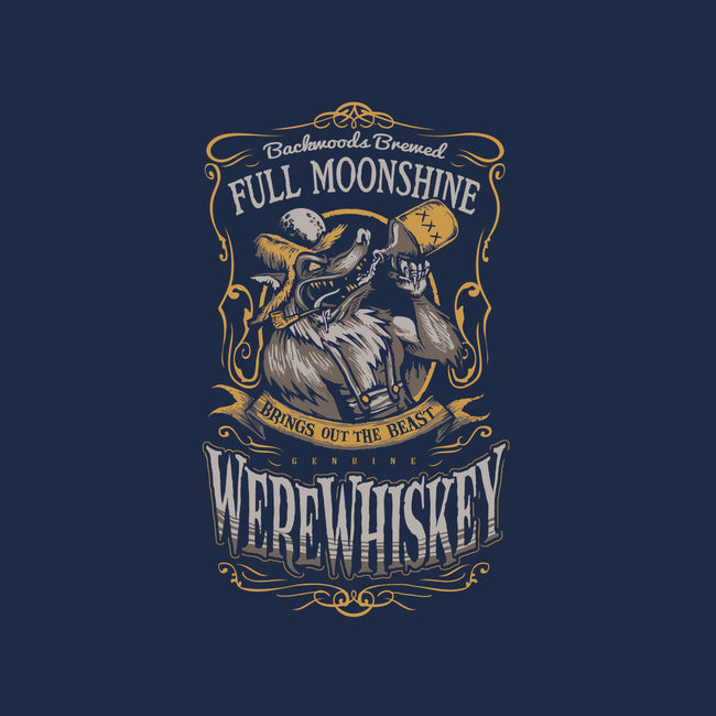 Moonshine WereWhiskey-none stretched canvas-heartjack