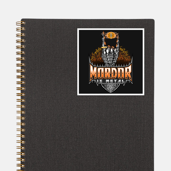 Mordor Is Metal-none glossy sticker-TrulyEpic