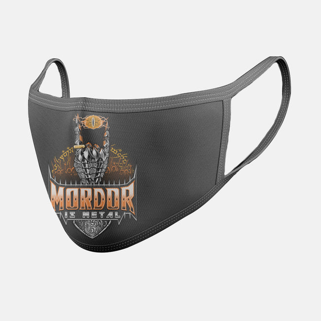 Mordor Is Metal-unisex basic face mask-TrulyEpic