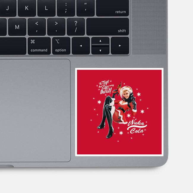 Mrs. Nuka Claus-none glossy sticker-steevinlove