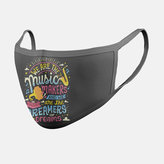 Music Makers & Dreamers-unisex basic face mask-risarodil