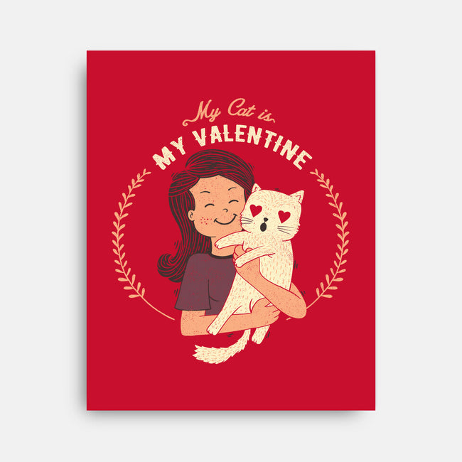 My Cat Is My Valentine-none stretched canvas-tobefonseca