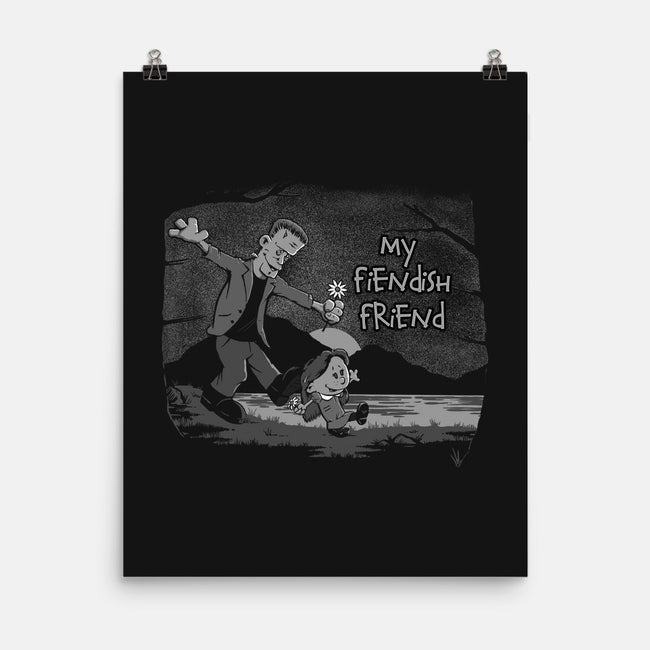My Fiendish Friend-none matte poster-mephias