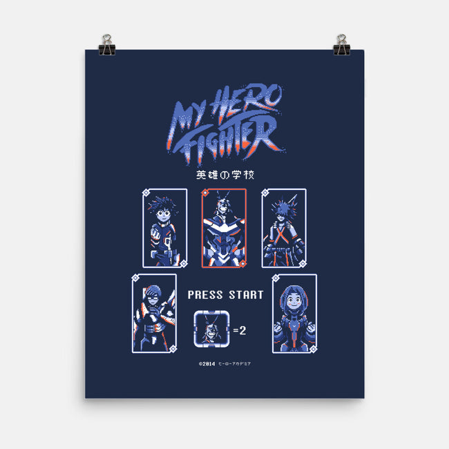 My Hero Fighter-none matte poster-ilustrata