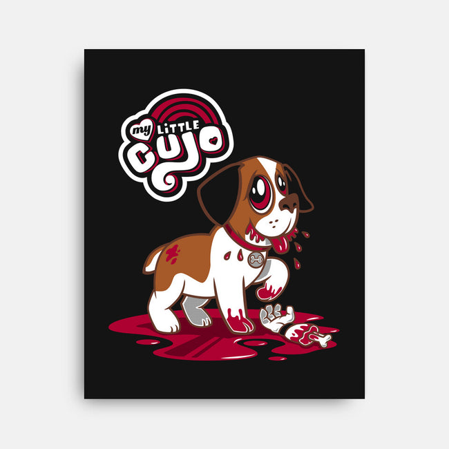 My Little Cujo-none stretched canvas-Nemons