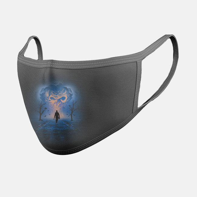 My World is Fire-unisex basic face mask-AlynSpiller