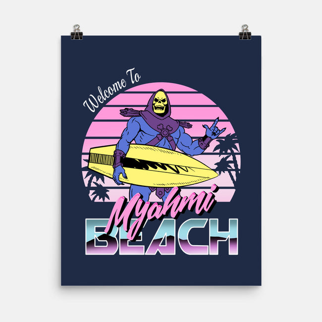 Myahmi Beach-none matte poster-Immortalized