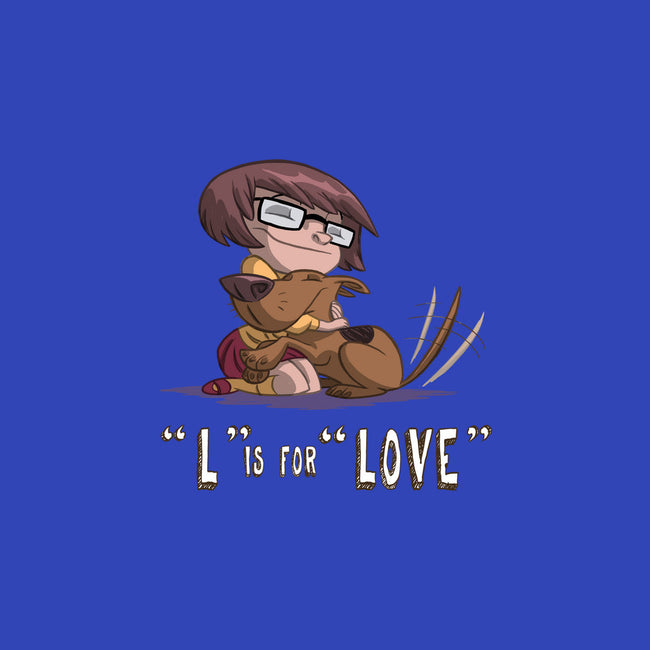 L is for Love-none glossy sticker-otisframpton