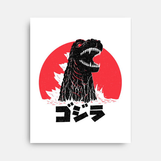Land of the Rising Kaiju-none stretched canvas-DinoMike