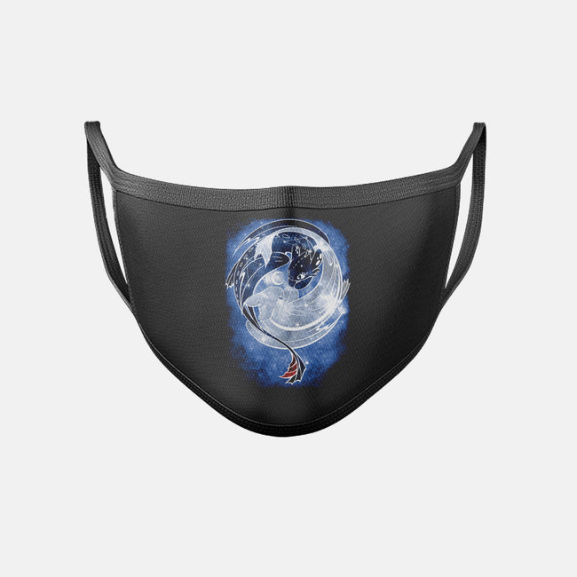 Last Starry Dragons-unisex basic face mask-ChocolateRaisinFury
