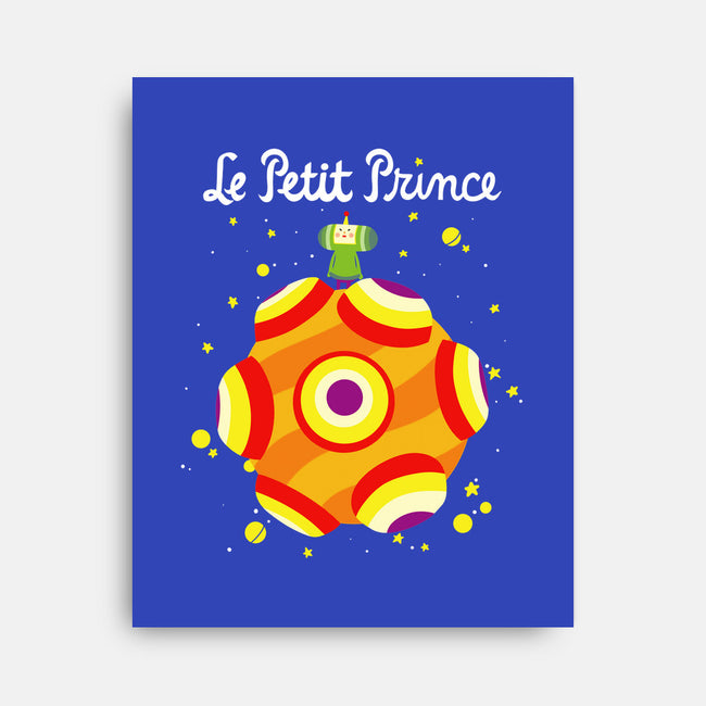 Le Petit Prince Cosmique-none stretched canvas-KindaCreative
