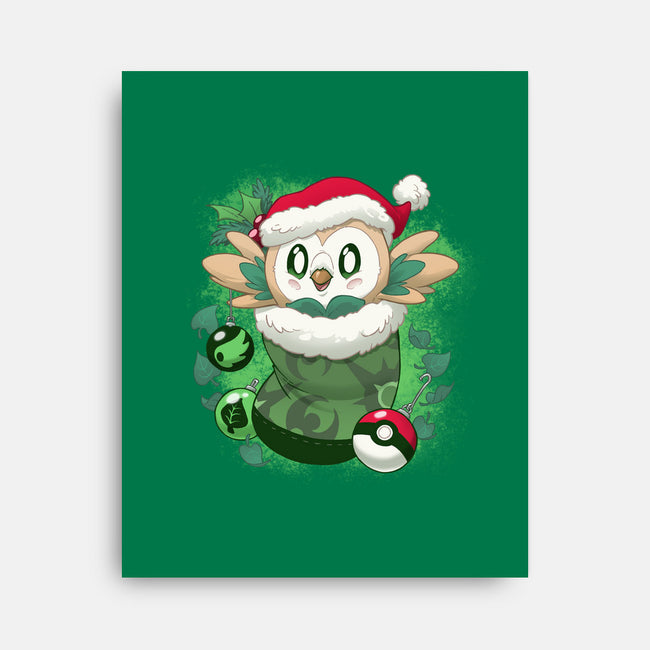 Leafy Stocking Stuffer-none stretched canvas-DoOomcat