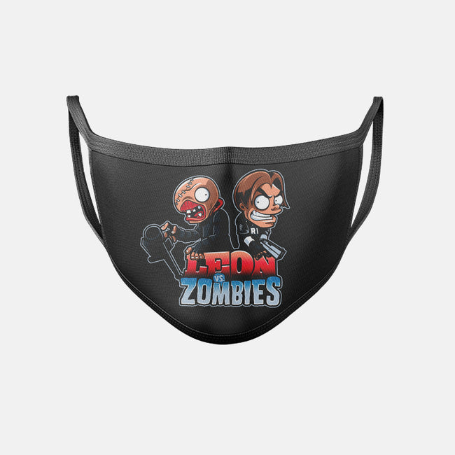 Leon vs Zombies-unisex basic face mask-javiclodo