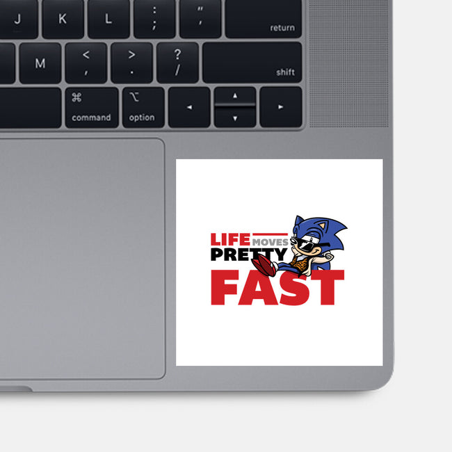 Life Moves Fast-none glossy sticker-Kat_Haynes