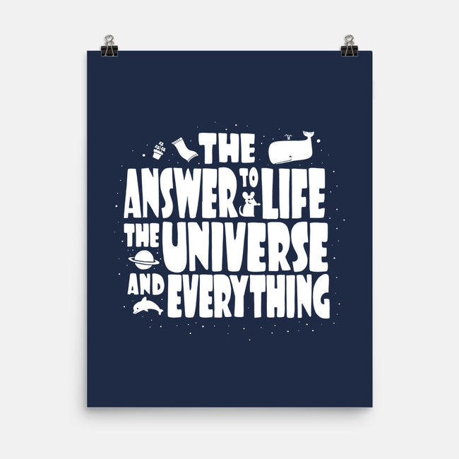Life, the Universe and Everything-none matte poster-queenmob