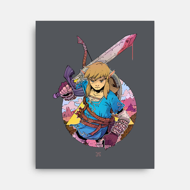 Link of the Wild-none stretched canvas-LukeHorsman