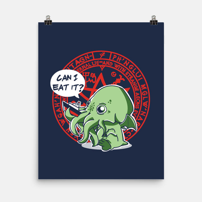 Little Cthulhu Is Hungry-none matte poster-TaylorRoss1