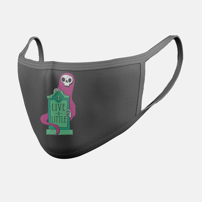 Live a Little-unisex basic face mask-DinoMike
