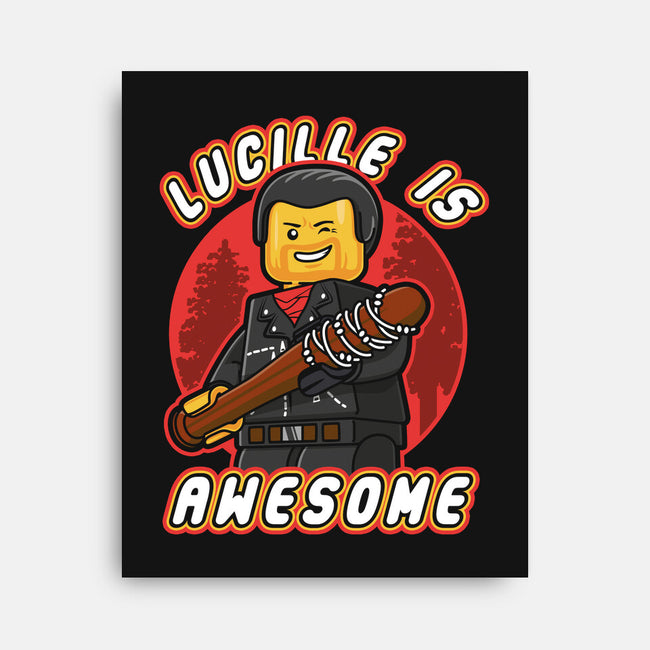 Lucille is Awesome-none stretched canvas-Olipop