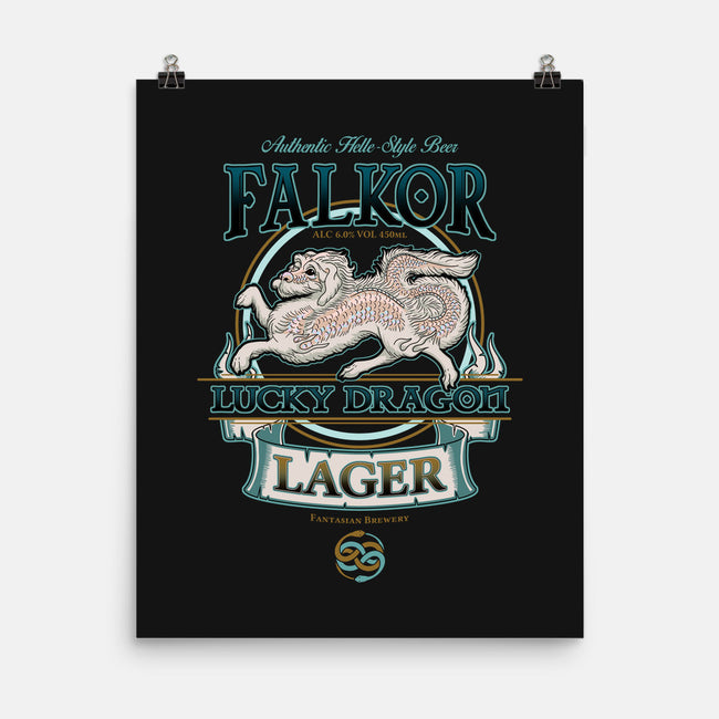 Lucky Dragon Lager-none matte poster-etcherSketch