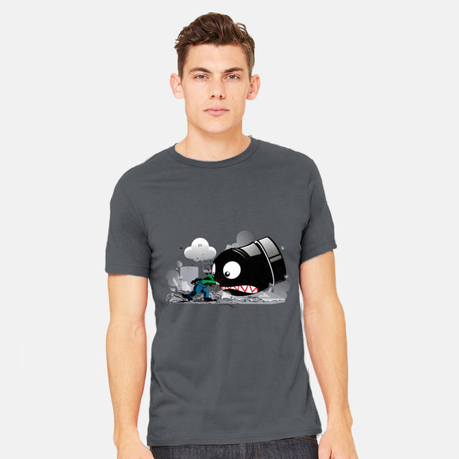 LUIGI: ALWAYS ANGRY-mens heavyweight tee-Adams Pinto