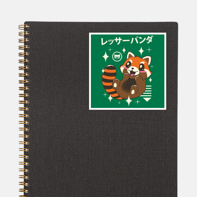 Kawaii Red Panda-none glossy sticker-vp021