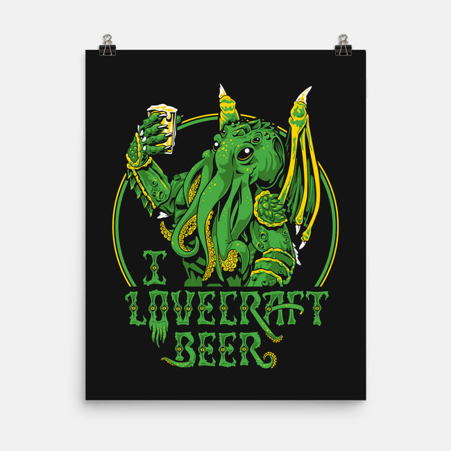 I Lovecraft Beer-none matte poster-Ian Leino
