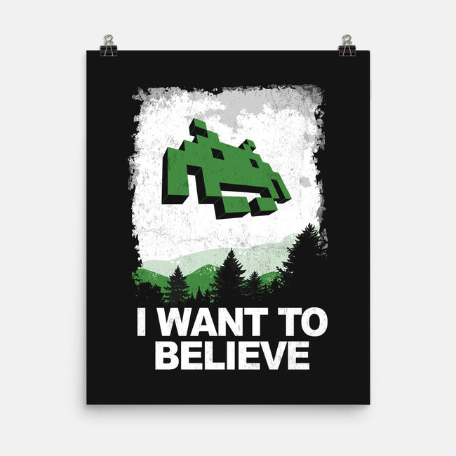 I Want to Invade-none matte poster-Skullpy