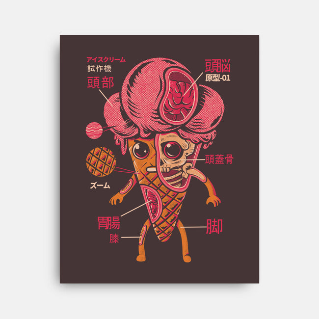 Ice Cream Kaiju-none stretched canvas-ilustrata