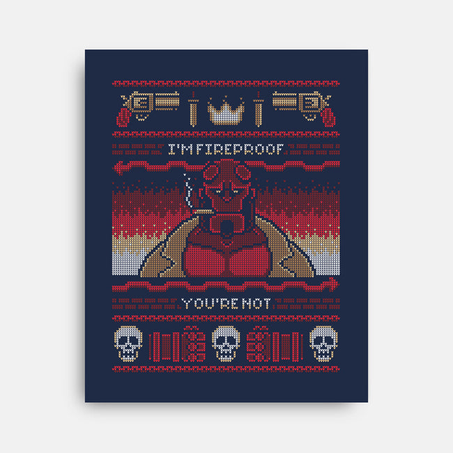 I'm Fireproof-none stretched canvas-BWdesigns