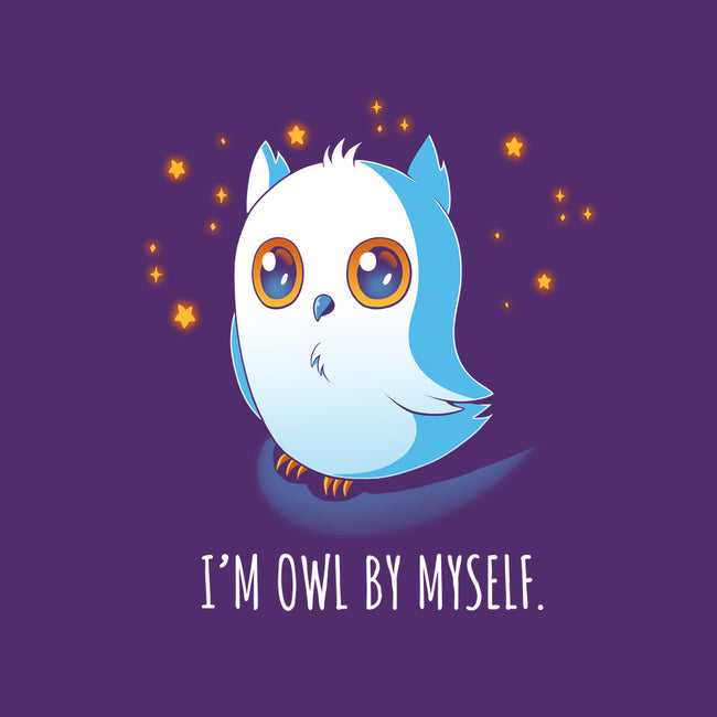 I'm Owl By Myself-none stretched canvas-Digital Magician
