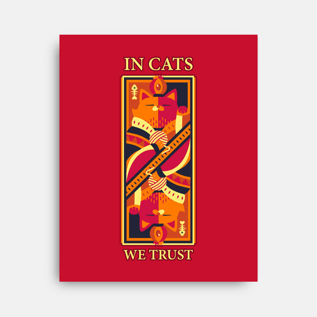 In Cats We Trust-none stretched canvas-tobefonseca