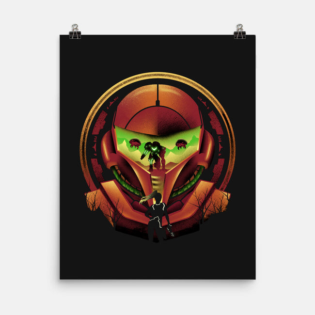 Intergalactic Hunter-none matte poster-dandingeroz