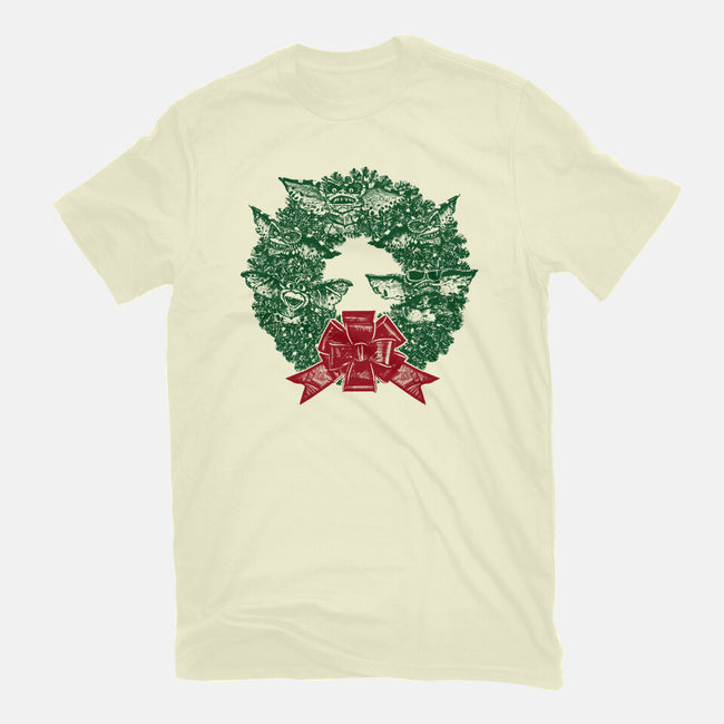It's Beginning To Look A Lot Like Gremlins-womens basic tee-QFSChris