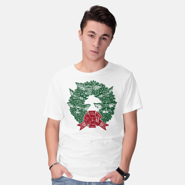 It's Beginning To Look A Lot Like Gremlins-mens basic tee-QFSChris