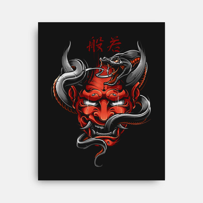 Hannya-none stretched canvas-Blackout Brother
