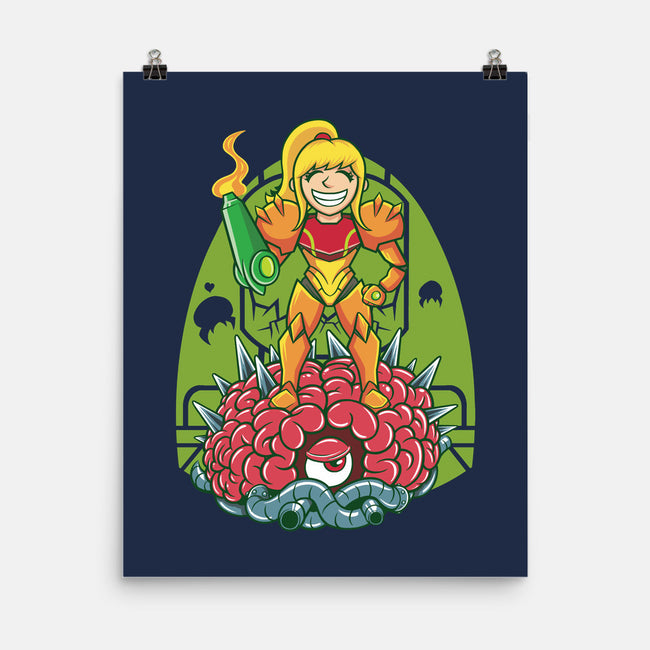Happy Hunting-none matte poster-OfficeInk