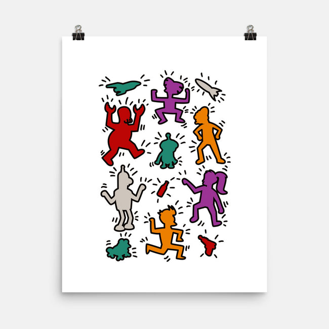 Haring Future-none matte poster-ducfrench