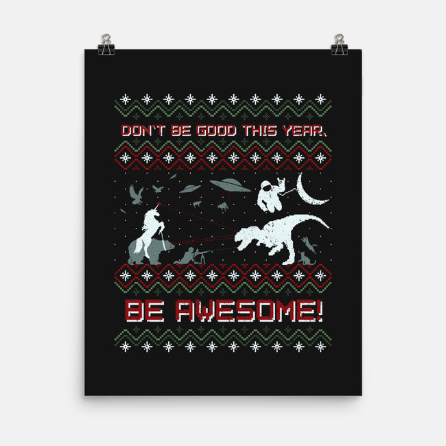 HAVE AN EPIC LITTLE XMAS!!-none matte poster-beanepods