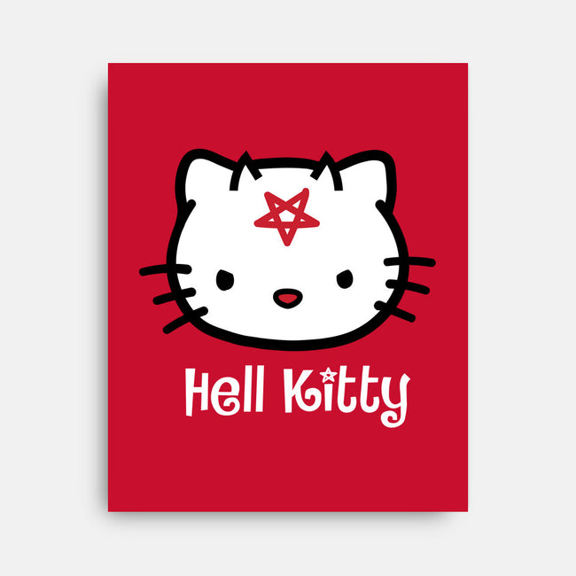 Hell Kitty-none stretched canvas-spike00