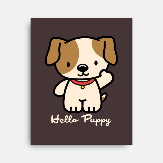 Hello Puppy-none stretched canvas-troeks