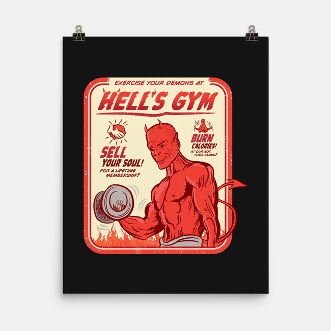 Hell's Gym-none matte poster-hbdesign
