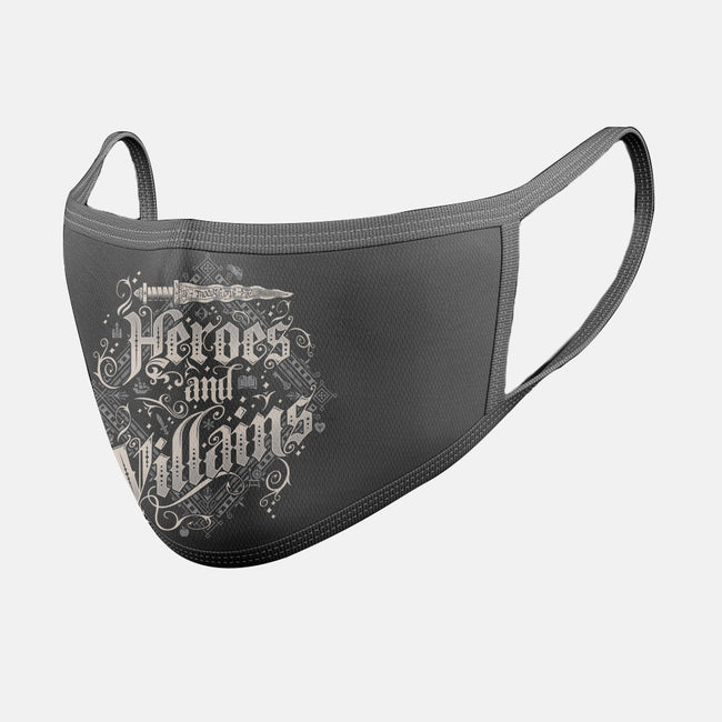 Heroes and Villains-unisex basic face mask-Nemons