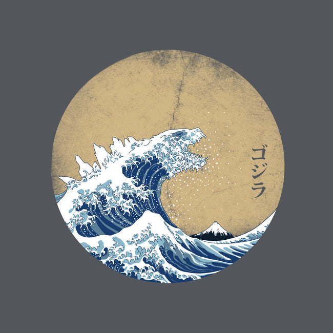 Hokusai Gojira-none glossy sticker-Mdk7