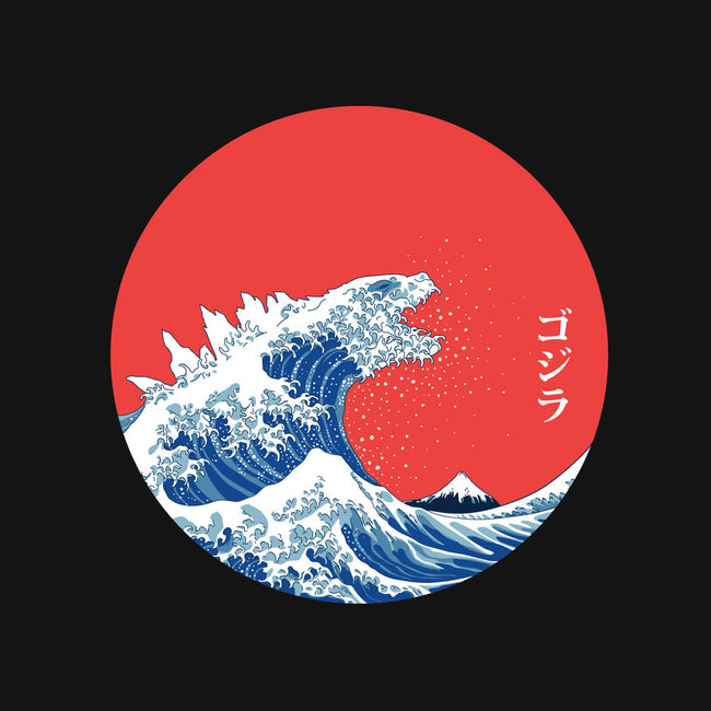 Hokusai Gojira-Variant-none stretched canvas-Mdk7