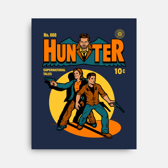 Hunter Comic-none stretched canvas-harebrained